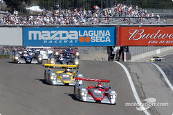 The start: Emanuele Pirro leads the field