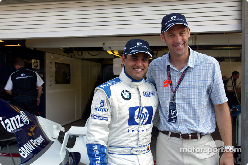 Juan Pablo Montoya con el actor Anthony Edwards