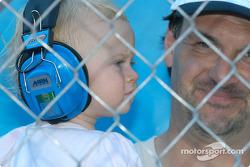 A young racing fan
