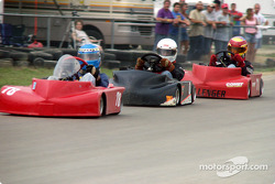 Double winner James Kirby (78) leads the #0 of Barrett Terry and the #71- of Chuck Clark during the early laps of American Power Sports Yamaha 2-Cycle