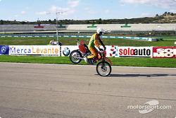 Stunt rider on Fan Day