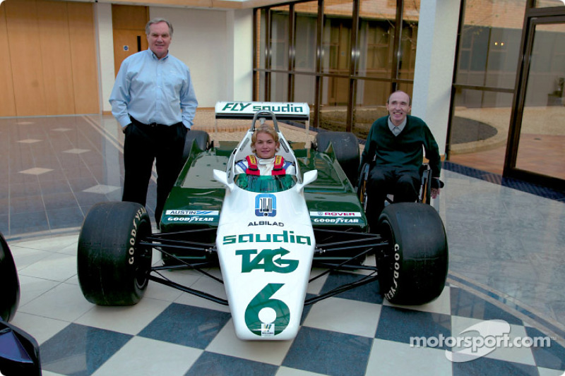 Patrick Head, Nico Rosberg and Frank Williams