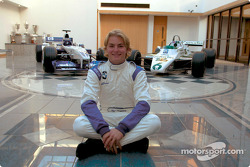 Nico Rosberg with the 2002 Williams FW24 and the Williams FW08 his dad Keke drove the the World Championship in 1982