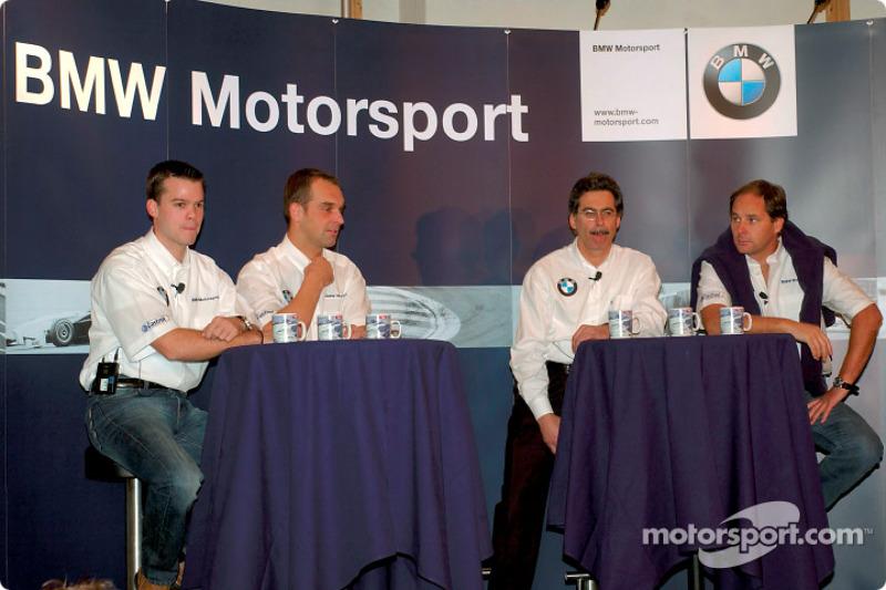 BMW Drivers Dirk Muller, Jorg Muller, Gerhard Berger and Dr. Mario Theissen (BMW Motorsport Director