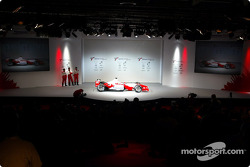 The new 2003 Toyota Racing TF103 on stage