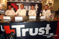 Raymond Vermeulen, Michel Perridon, Jos Verstappen y Paul Stoddart