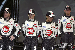 Jacques Villeneuve, Anthony Davidson, Takuma Sato and Jenson Button
