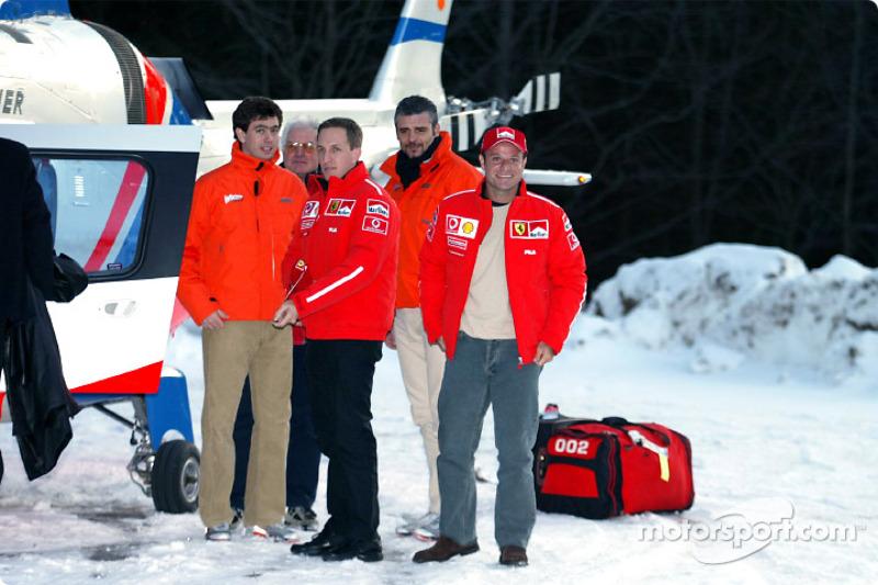 Luciano Burti and Rubens Barrichello