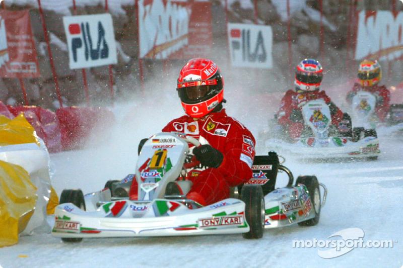 kart race: Michael Schumacher