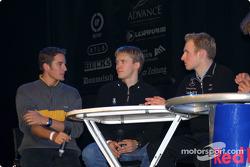 Timo Scheider, Mattias Ekström and Stefan Mücke