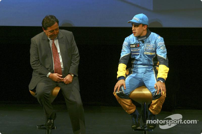Patrick Faure and Fernando Alonso