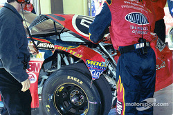 Jeff Gordon's damaged car