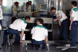 Sauber at technical inspection