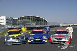 Alain Menu, Karl Wendlinger y Bernd Schneider