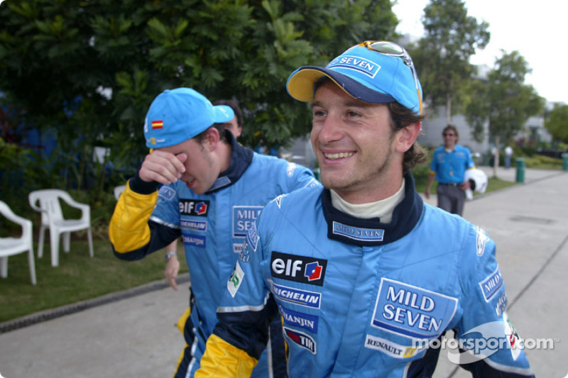 First row for the race: Fernando Alonso and Jarno Trulli