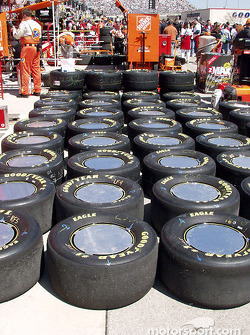 Tires lined up
