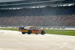 Ward Burton spins on pitlane