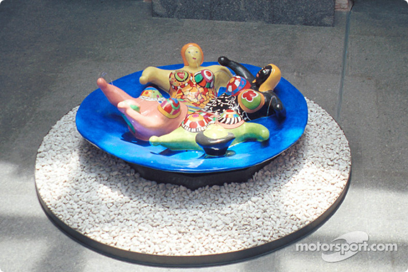 Modern sculpture at the Pinacoteca museum