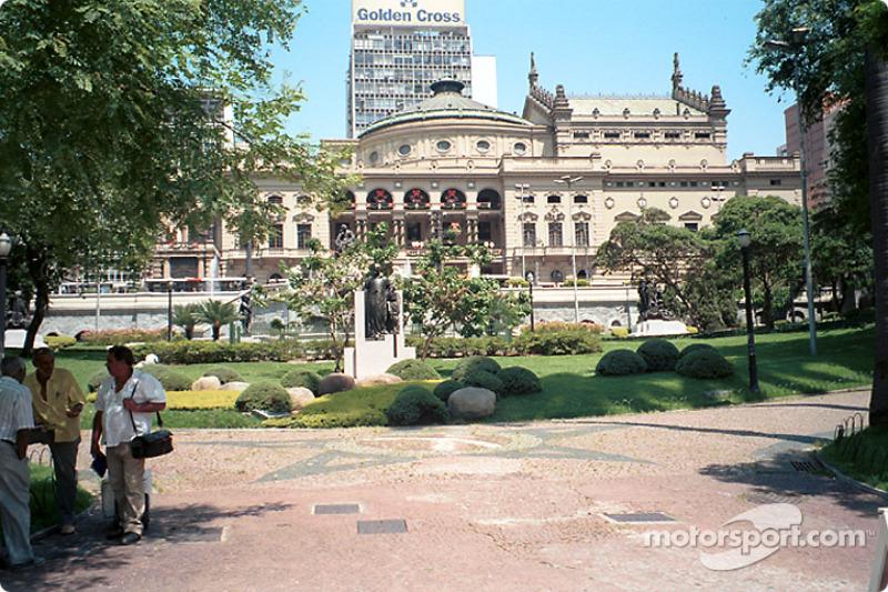 State Theater and gardens, Sao Paulo