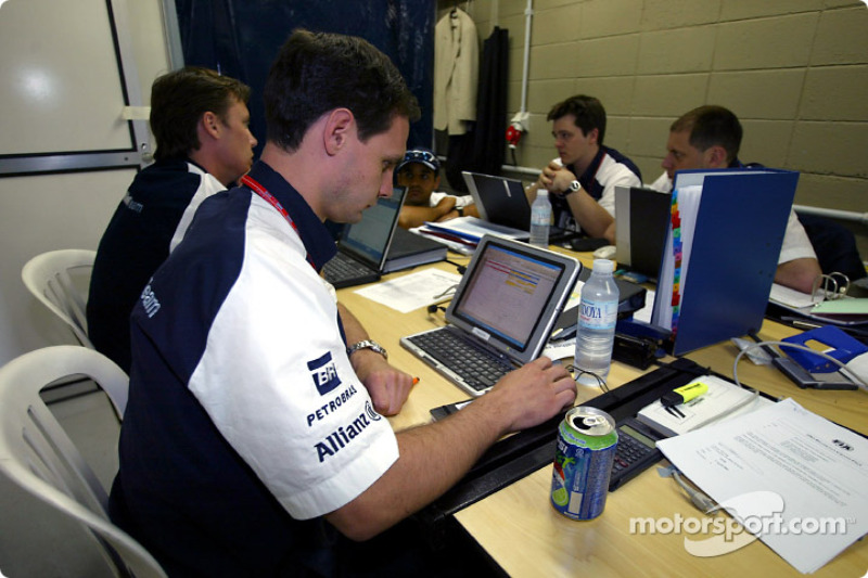 Williams-BMW engineers
