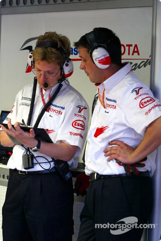 Les membres de l'équipe Toyota