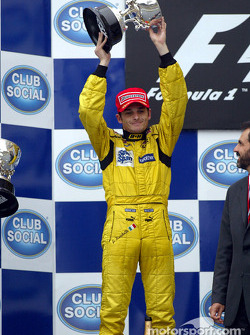 The podium: Giancarlo Fisichella