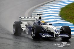 Juan Pablo Montoya goes to the starting grid