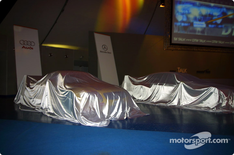 The DTM cars under veils