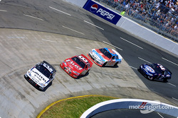 Ryan Newman leads Dale Earnhardt Jr.