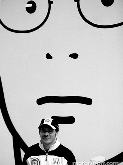 British artist Julian Opie brings together Art and Formula 1 racing: Jacques Villeneuve