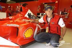 Rubens Xaus visits Ferrari
