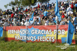 Fernando Alonso's numerous fans