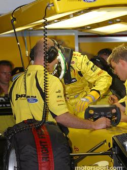 Giancarlo Fisichella gets ready