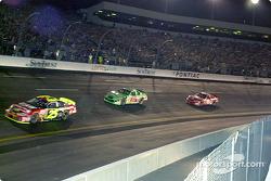 Nemechek, Labonte, Earnhardt, looking pretty much like the finish