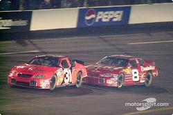 Robby Gordon and Dale Earnhardt Jr.