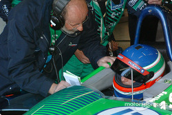Henri Pescarolo discusses with Jean-Christophe Boullion