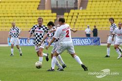 Football match at Stade Louis II in Monaco: Prince Albert