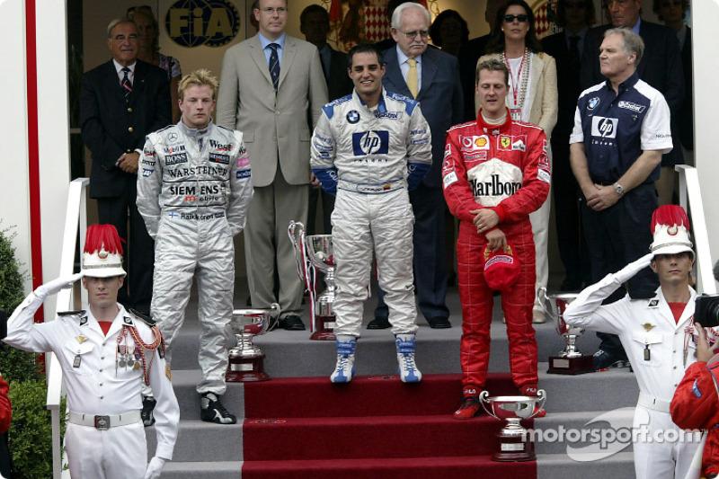 2003: 1. Juan Pablo Montoya, 2. Kimi Raikkonen, 3. Michael Schumacher