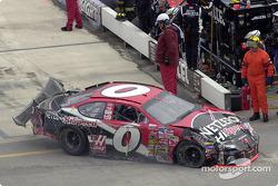 Jack Sprague's car took a beating