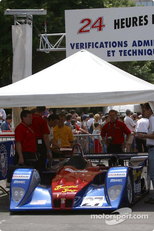 #27 Intersport Racing Field Lola-MG at scrutineering