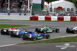 Heinz-Harald Frentzen, Nick Heidfeld y Jacques Villeneuve