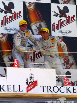 The podium: race winner Christijan Albers and Bernd Schneider