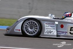 #5 Audi Sport Japan Team Goh Audi R8: Jan Magnussen, Marco Werner, Seiji Ara heads to the starting grid