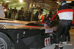 Pitstop for #11 JML Team Panoz Panoz-Elan LMP01: Olivier Beretta and Max Papis