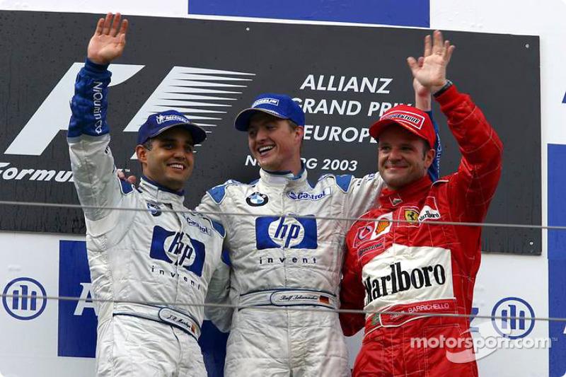 2003: 1. Ralf Schumacher, 2. Juan Pablo Montoya, 3. Rubens Barrichello