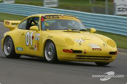 la Porsche 993 n°01 de l'équipe G&W Motorsports pilotée par Joe Masessa, Robert Prilika