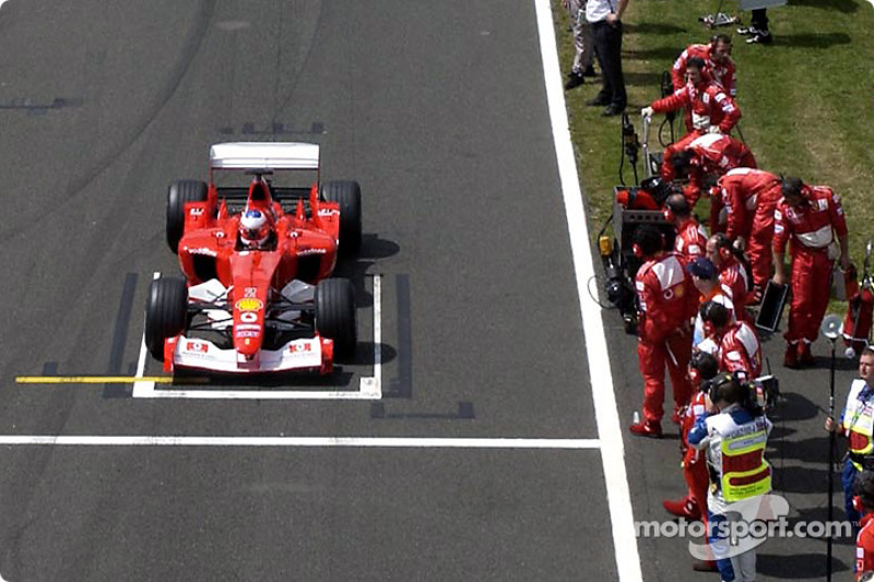 La parrilla de salida: Rubens Barrichello