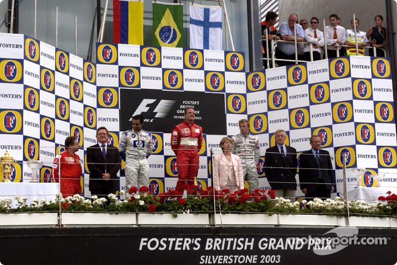 2003. Подіум: 1. Рубенс Баррікелло, Ferrari. 2. Хуан-Пабло Монтойя, Williams-BMW. 3. Кімі Райкконен, McLaren-Mercedes