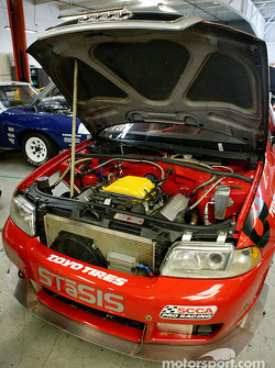 Engine compartment of Jon Prall's #78 STaSIS Audi A4