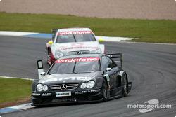 Jean Alesi leads Bernd Schneider